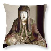 Japan: Statue, 9th Century Throw Pillow