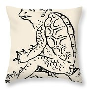 Japanese Folklore: Kappa Throw Pillow