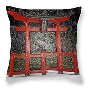 Japanese Garden Bbg Throw Pillow