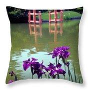 Japanese Garden Brooklyn New York Throw Pillow