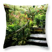 Japanese Garden Retreat Throw Pillow