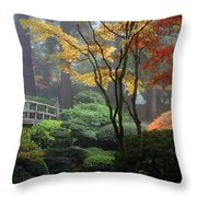Japanese Gardens Fall Throw Pillow