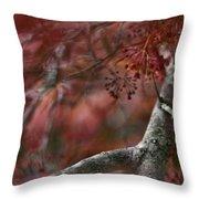 Japanese Maple Blur Throw Pillow