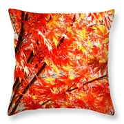 Japanese Maple Leaves 12 In The Fall Throw Pillow