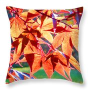 Japanese Maple Leaves 6 In The Fall Throw Pillow