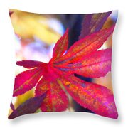 Japanese Maple Leaves In The Fall Throw Pillow