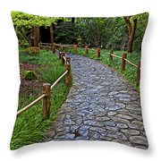 Japanese Tea Garden Path Throw Pillow