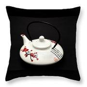 Japanese Teapot Throw Pillow