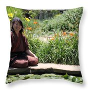Japanese Woman Throw Pillow