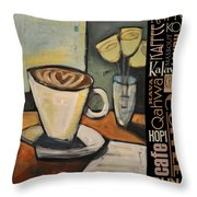 Java Coffee Languages Poster Throw Pillow