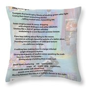 Jazz Changes - Poem Throw Pillow