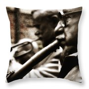 Jazz Legends Al Hirt And Pete Fountain Throw Pillow