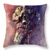 Jazz Miles Davis Maditation Throw Pillow