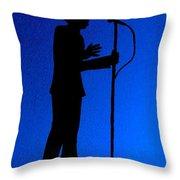 Jazz Singer Throw Pillow