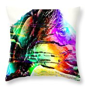 Jazzy Horse Throw Pillow