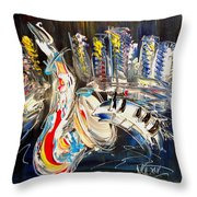 Jazzzzzzzzzzz Throw Pillow