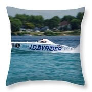 J.d. Byrider Offshore Racing Throw Pillow