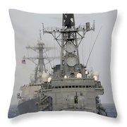 Jds Shimakaze Sails In Formation Throw Pillow