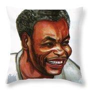 Jean Pierre Dikongue Pipa Throw Pillow