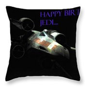 Jedi Birthday Card Throw Pillow