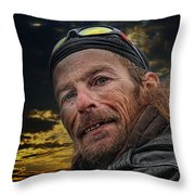 Jeff On The Bridge Throw Pillow