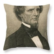Jefferson Davis, President Throw Pillow