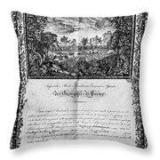Jefferson: Degree, 1820 Throw Pillow