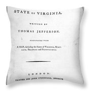 Jefferson: Title Page, 1787 Throw Pillow by Granger