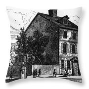 Jeffersons House, 1776 Throw Pillow