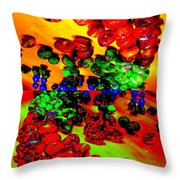 Jelly Bean Jewels 5 Throw Pillow