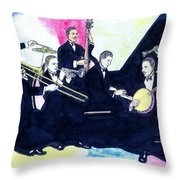 Jelly Roll And The Red Hot Peppers Throw Pillow