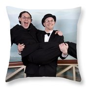 Jen And Matt 01 Throw Pillow