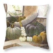 Jennifer's Pumpkins Throw Pillow