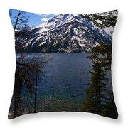 Jenny Lake In The Grand Teton Area Throw Pillow