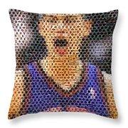 Jeremy Lin Mosaic Throw Pillow by Paul Van Scott