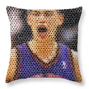 Jeremy Lin Mosaic Throw Pillow by Paul Van Scott
