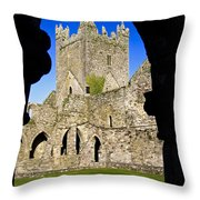 Jerpoint Abbey In Kilkenny Throw Pillow