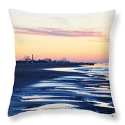 Jersey Shore Sunrise Throw Pillow
