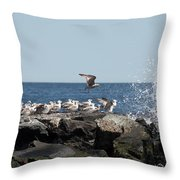 Jersy Shore Throw Pillow