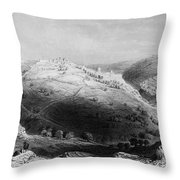 Jerusalem: Mount Zion Throw Pillow