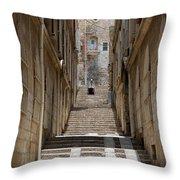Jerusalem Steps Throw Pillow