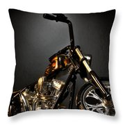Jesse James Bike 2 Detroit Mi Throw Pillow