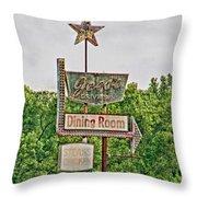 Jess's Drive Inn Throw Pillow