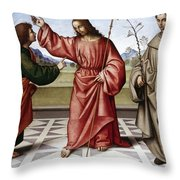 Jesus & Thomas Throw Pillow