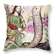 Jesus And Serpent Throw Pillow