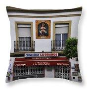 Jesus And The Cerveceria Throw Pillow