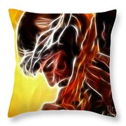 Jesus Carrying The Cross Throw Pillow by Pamela Johnson