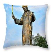 Jesus Christ Statue Throw Pillow