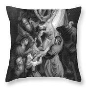 Jesus: Deposition Throw Pillow