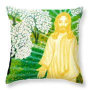 Jesus On Mount Thabor Throw Pillow